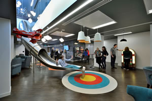 Office space with crazy objects found in them