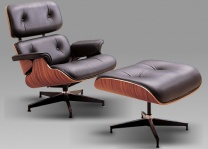 Leather Lounger & Stool